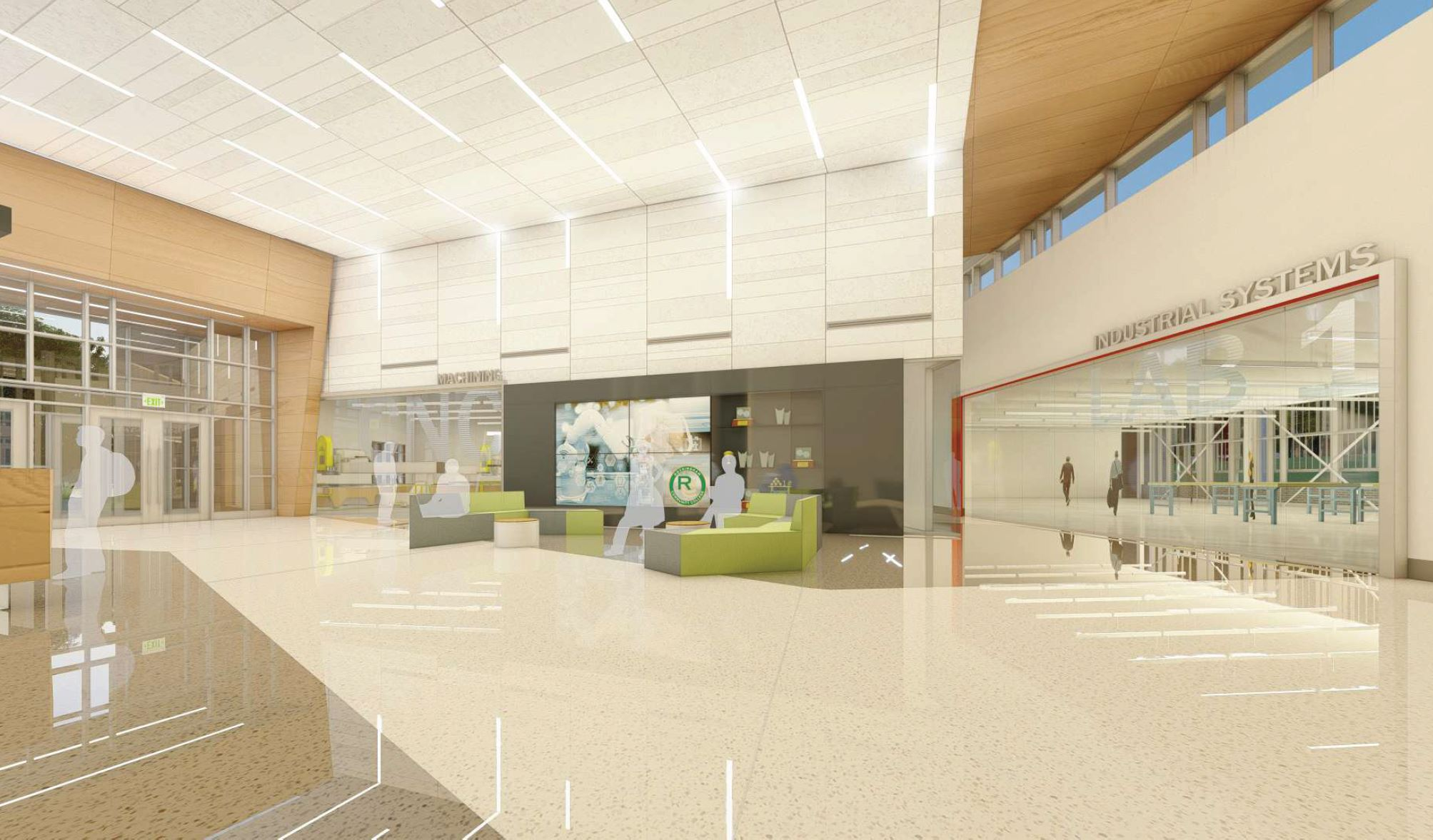 A rendering of new building's lobby.
