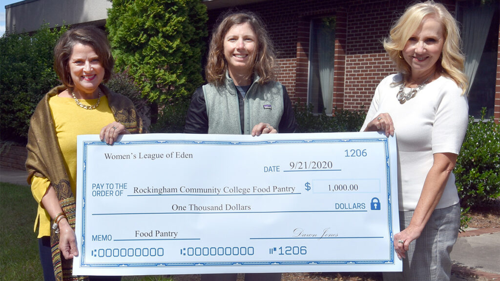 Large check donation