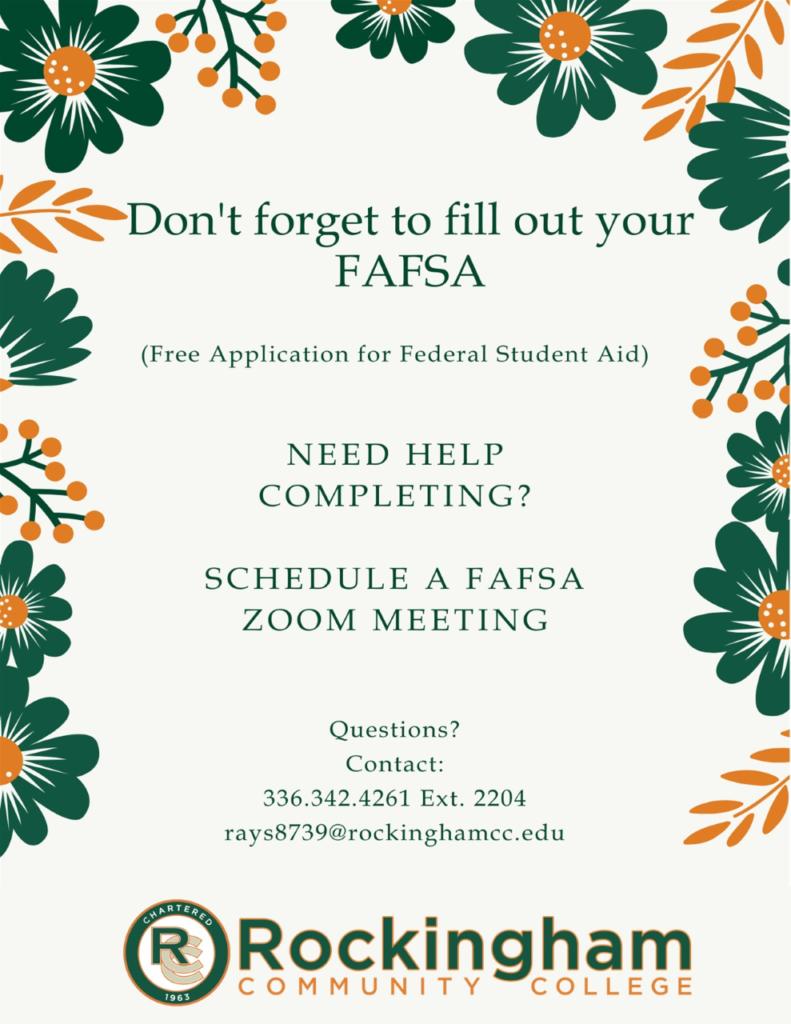 Spring Fafsa Flyer