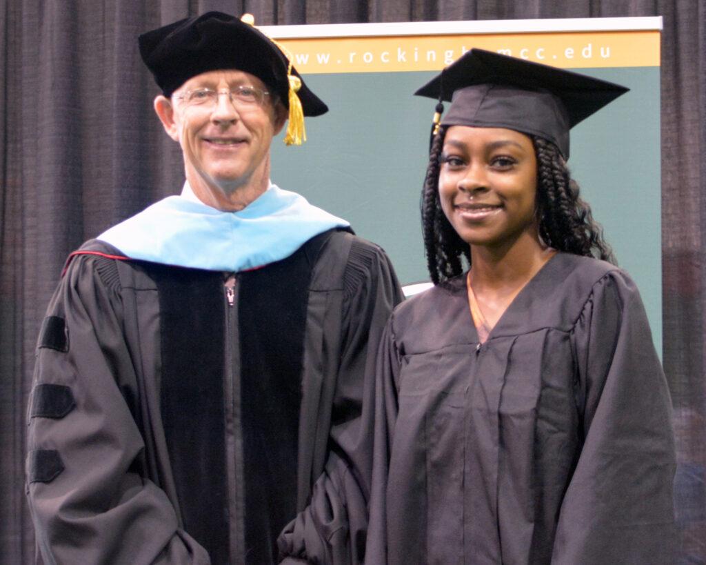 Dr. Kinlaw and student Sarah Moran