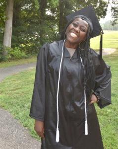 Graduate smiles