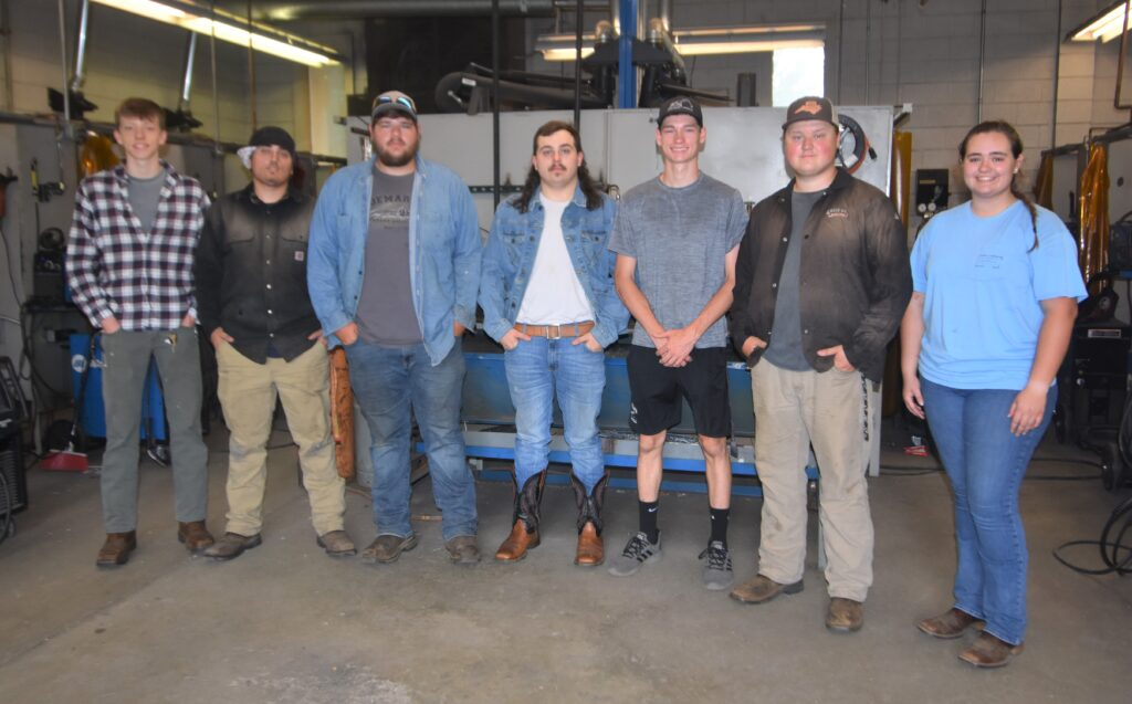 Welding students who passed their GMAW certifications