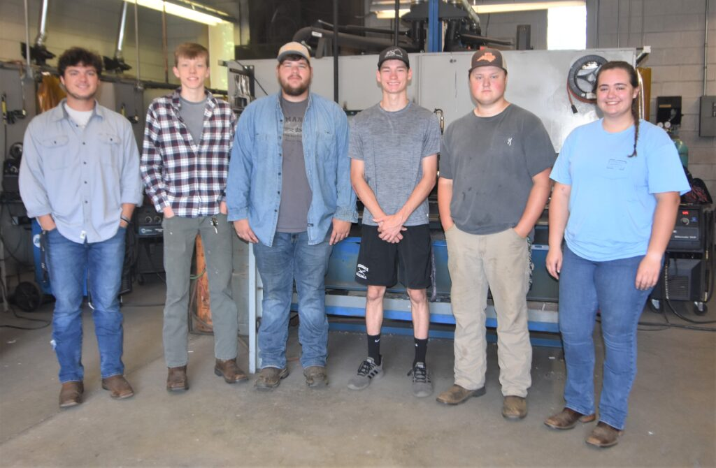 Welding students who passed their SMAW certifications