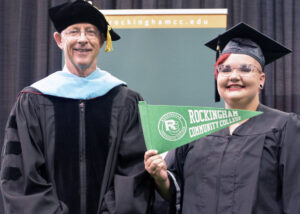 RCC president and a student on graduation day.